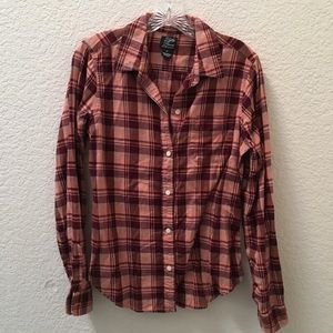 Lucky Brand Pink Plaid Flannel